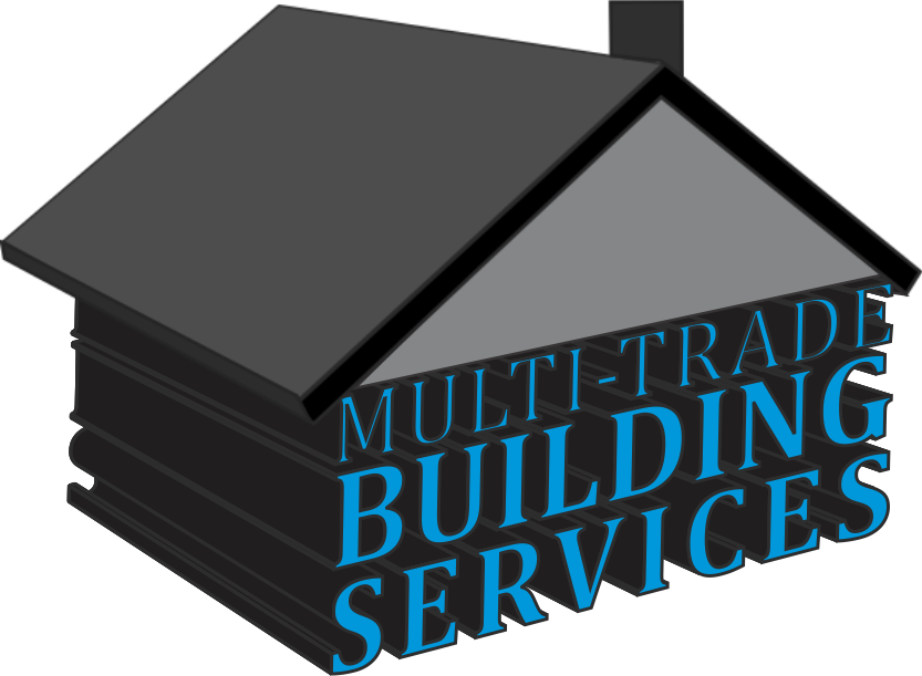 Multi Trade Building Services logo in the shape of a house