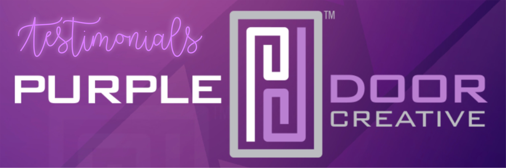 Purple Door Creative logo and Testimonials
